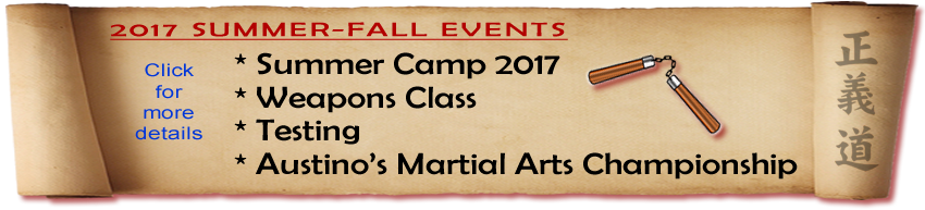 Martial Arts, New Jersey, Upcoming Events
